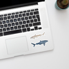 Sharks vinyl sticker | Available at www.dessi-designs.com