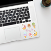 Cute Ice Cream laptop Stickers | Available at www.dessi-designs.com