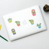 Cute Plants laptop Stickers | Available at www.dessi-designs.com
