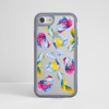 Rainbow Fish Clear Impact Phone Case Grey | Available at Dessi-Designs.com