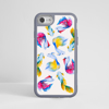Rainbow Fish Impact Phone Case Grey | Available at Dessi-Designs.com