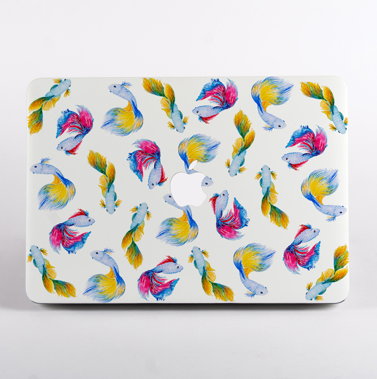 Rainbow Fish Macbook Pro Hard Case | Available at Dessi-Designs.com