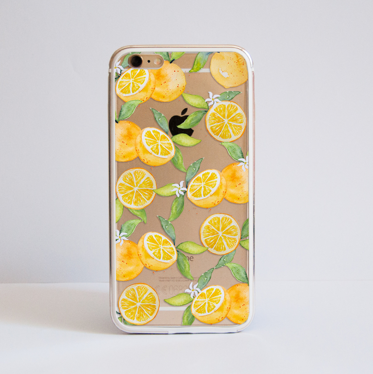 Oranges Clear Aluminium Bumper Phone Case | available at www.dessi-designs.com