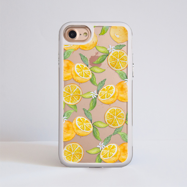 Oranges Impact Phone Case White Frame | Available at www.dessi-designs.com