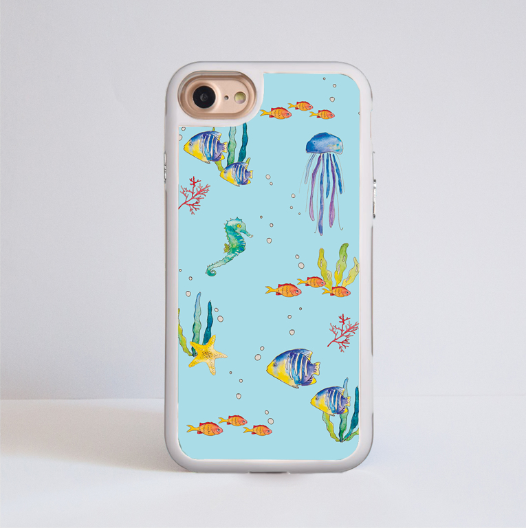 Under The Sea Plastic Bumper Phone Case | Available at www.Dessi-Designs.com