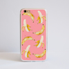 Pink Aluminium Bumper Phone Case with Bananas Pattern | Available at www.dessi-designs.com