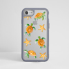 Sea Turtles Impact Phone Case Grey Frame | Available at www.dessi-designs.com