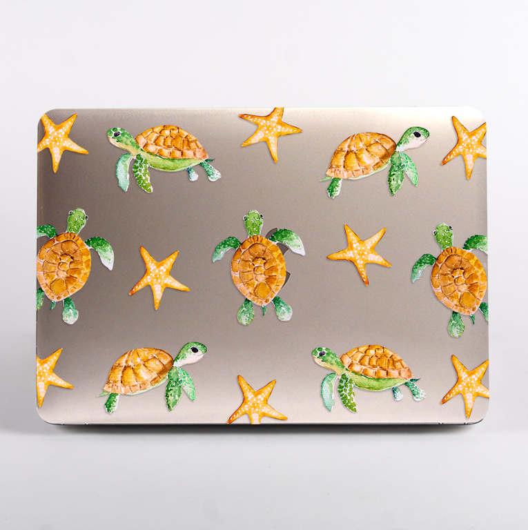 Sea Turtles Clear MacBook Case | Available at www.dessi-designs.com