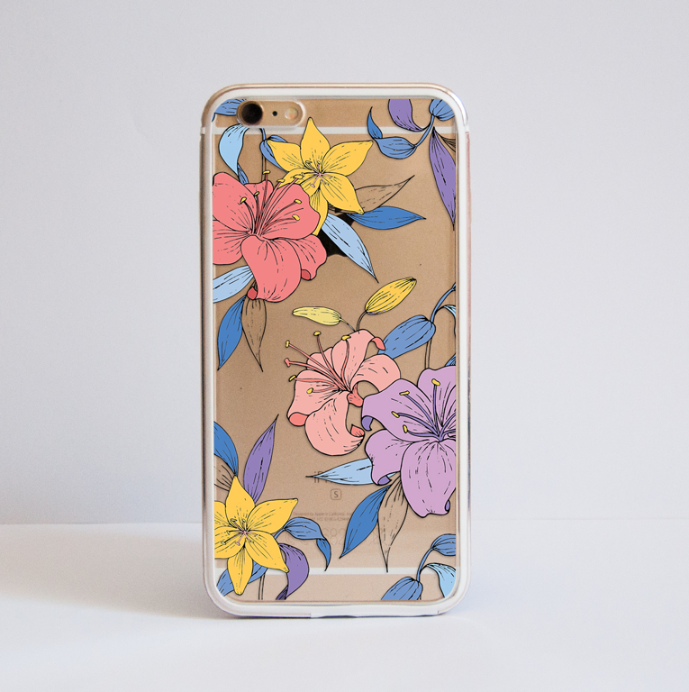 Flowers Bumper Phone Case front | Available at www.dessi-designs.com