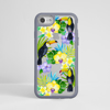Toucan Birds Clear Impact Phone Case Grey Frame | Available at www.dessi-designs.com