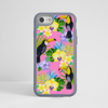 Toucan Birds Pink Phone Case Grey Frame | Available at www.dessi-designs.com