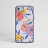Purple Florals Impact Phone Case  Grey Frame | Available at www.dessi-designs.com