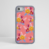 Pink Florals Impact Case Grey Frame | Available at www.dessi-designs.com