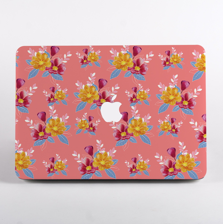 Pink Florals MacBook Case front | available at www.dessi-designs.com