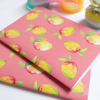 Set of two Tropical Mangos A5 journal | available at www.dessi-designs.com