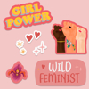 Feminist stickers -Pack of five | available at www.dessi-designs.com