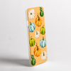 Orange Watercolour pumpkins phone case side view    - Available at www.dessi-designs.com