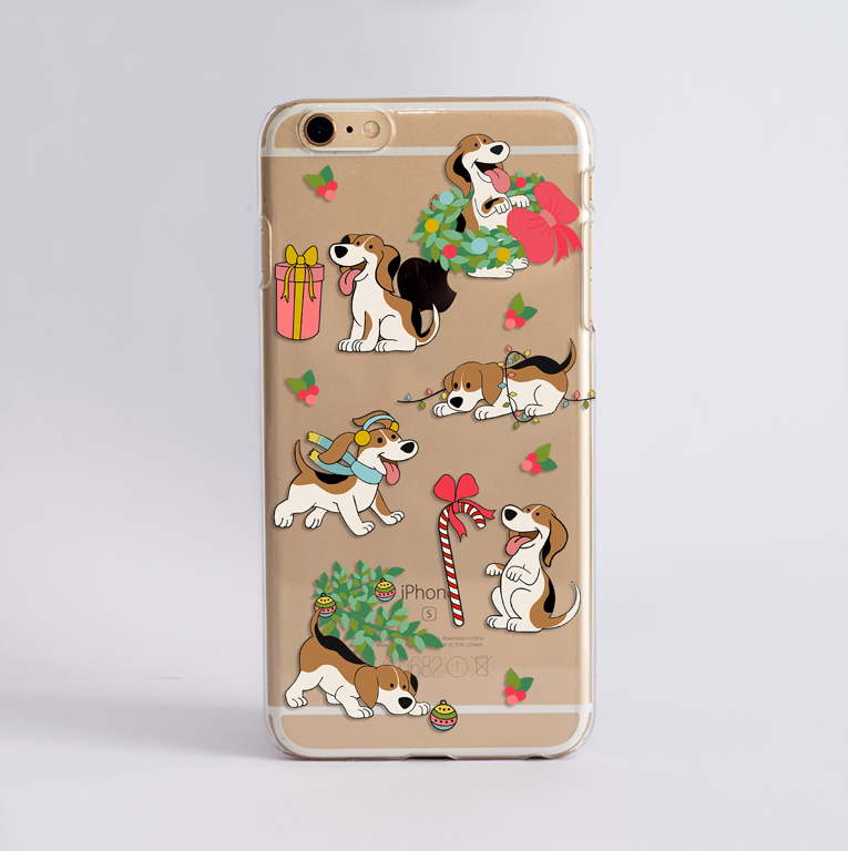 Christmas Dogs Phone Case by Dessi Designs.