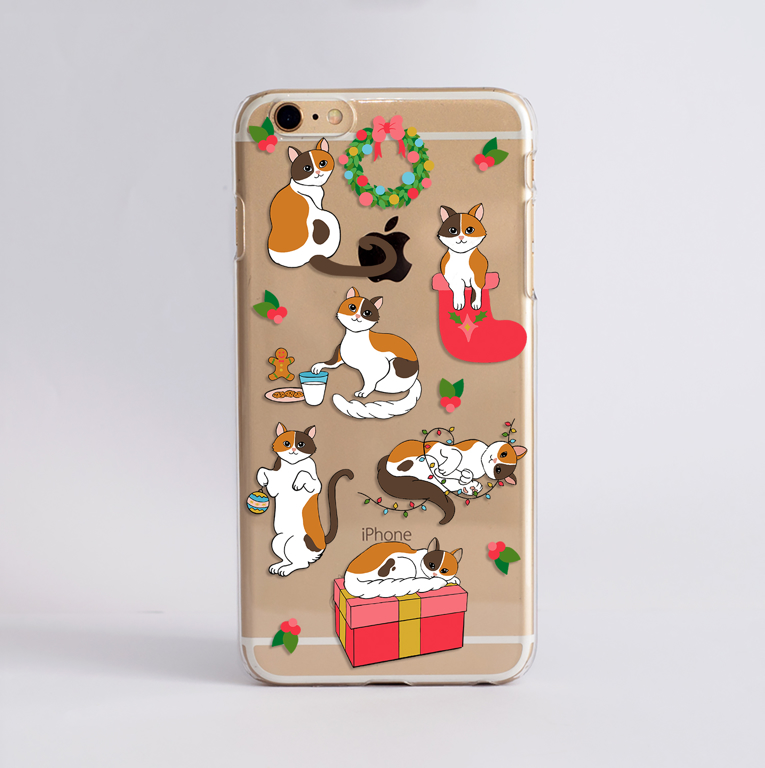 Christmas Cats Phone Case by Dessi Designs.