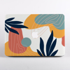 Blue and Pink Abstract MacBook Case With Logo | Available at Dessi-Designs.com