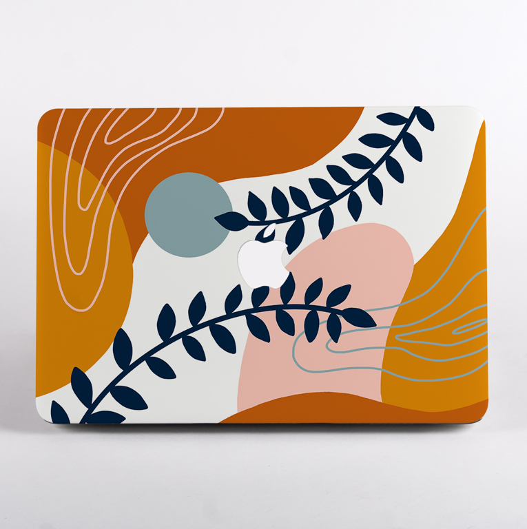 Abstract Painting MacBook Case With Logo | Available at Dessi-Designs.com
