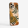 Abstract Botanical Art iPhone 12 Case Side View | Available at www.dessi-designs.com Phone Case
