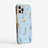 Blue Boats Slimline Phone Case Side | Available at Dessi-Designs.com
