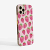 Pink Strawberries Slimline Phone Case Side | Available at Dessi-Designs.com