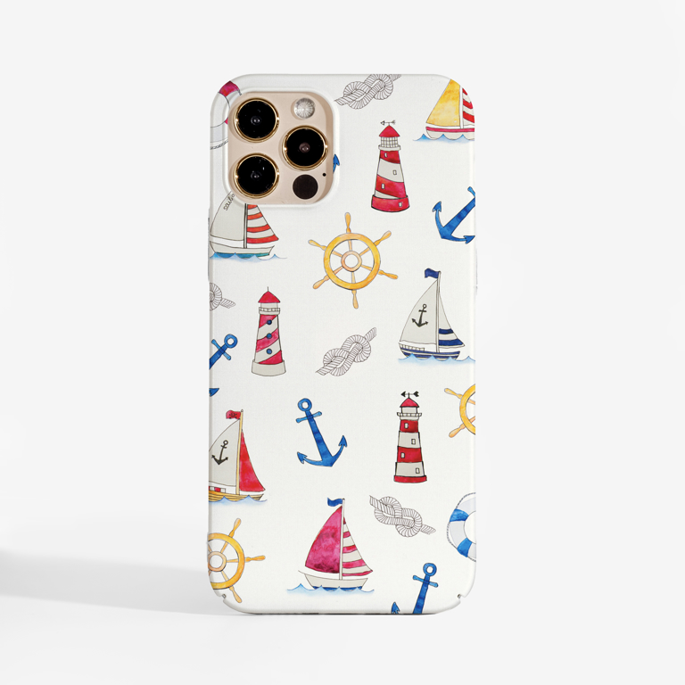 Boats Slimline Phone Case Front | Available at www.Dessi-Designs.com