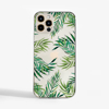 Clear Tropical Leaves Phone Case Front | Available at Dessi-Designs.com