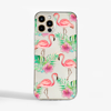 Flamingo Clear Slim Phone Case Front | Available at Dessi-Designs.com