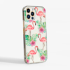 Flamingo Clear Slim Phone Case Side | Available at Dessi-Designs.com