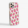 Clear Strawberries Slimline Phone Case Side | Available at Dessi-Designs.com