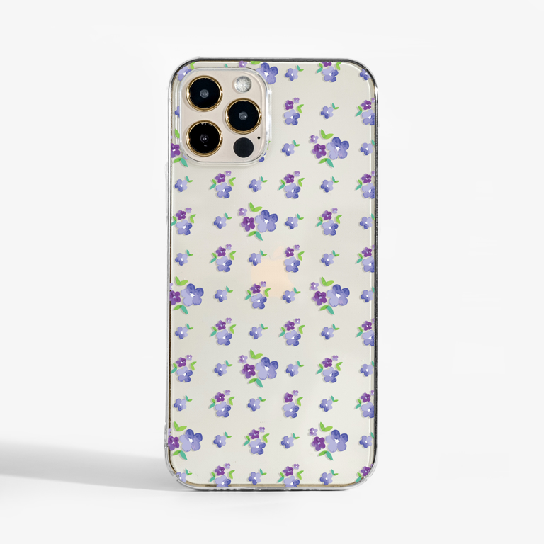 Clear Purple Mayflower Slimline Phone Case Front | Available at Dessi-Designs.com
