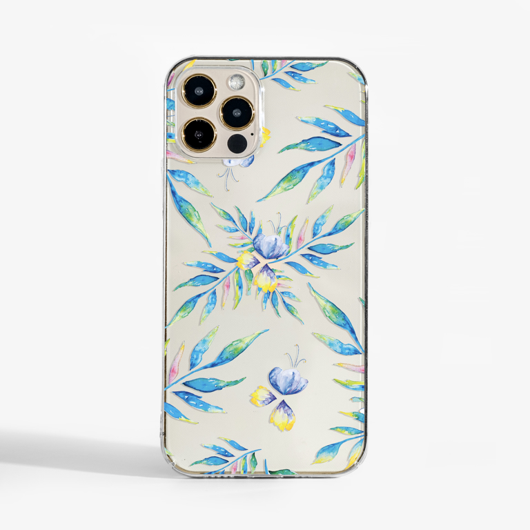 Clear Watercolour Florals  Phone Case  | Available at Dessi-Designs.com