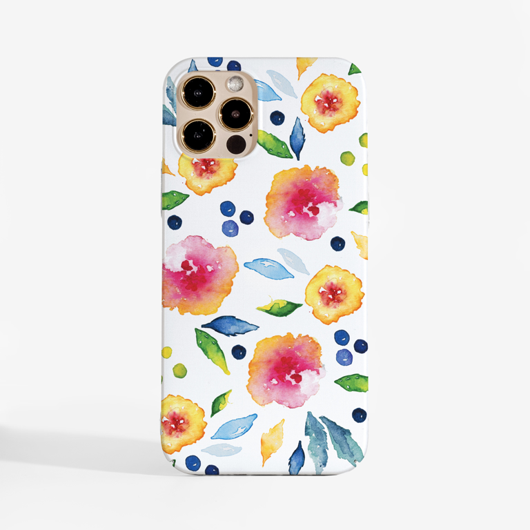 Autumn Floral Slimline Phone Case Front | Available at Dessi-Designs.com