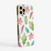 White Fall Leaves Slimline Phone Case Side | Available at Dessi-Designs.com