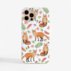 Foxes White Slimline Case Phone Front | Available at Dessi-Designs.com