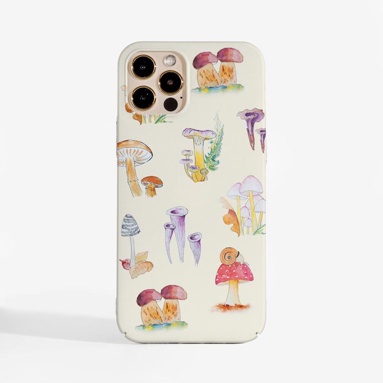 Mushrooms Slimline Phone Case Front | Available at Dessi-Designs.com