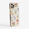Mushrooms Slimline Phone Case Side | Available at Dessi-Designs.com