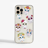 Day of the Dead Clear Slimline Phone Case Front | Available at Dessi-Designs.com