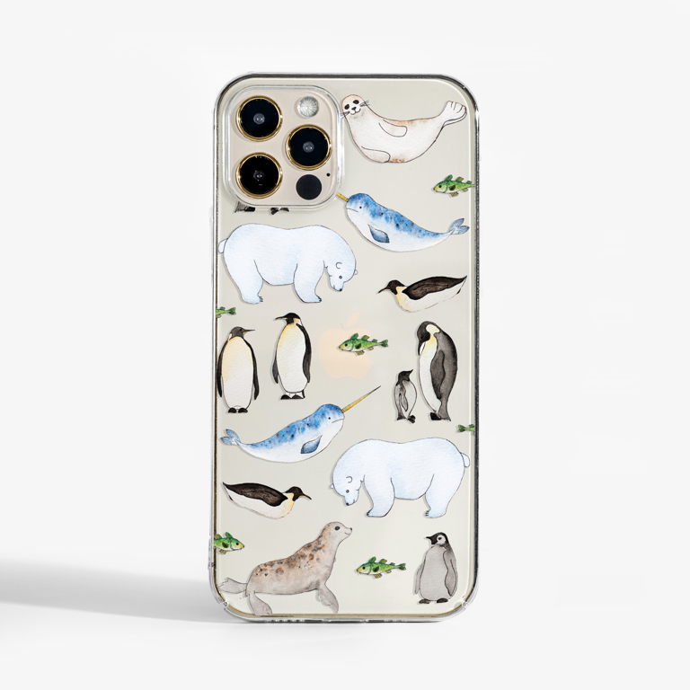 Arctic Animals Slimline iPhone Case Front | Available at Dessi-Designs.com