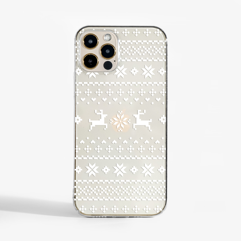Christmas Jumper Clear Slimline Phone Case Front   Available at Dessi-Designs.com