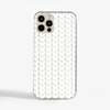 White Knitted Pattern Slimline Phone Case Front | Available at Dessi-Designs.com