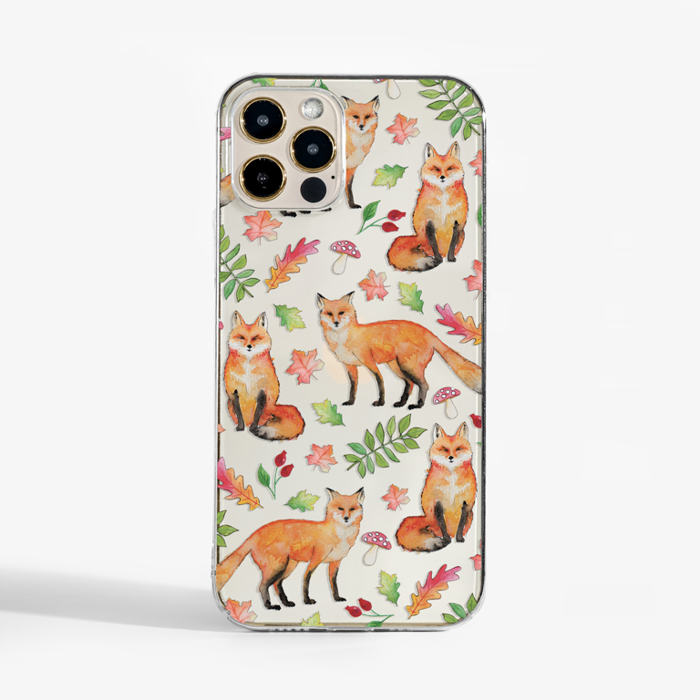Foxes Clear Slimline Phone Case | Available at Dessi-Designs.com