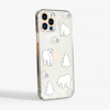 Clear Polar Bears Slimline Phone Case Side| Available at Dessi-Designs.com
