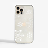 Large Snowflakes Slimline Phone Case Front | Available at Dessi-Designs.com