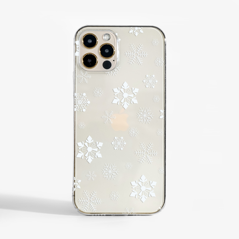 Small Snowflakes Slimline Phone Case Front   Available at Dessi-Designs.com