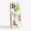 Winter bears clear phone case Side