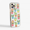 Cute Plants Clear Case Side View | Available at www.dessi-designs.com